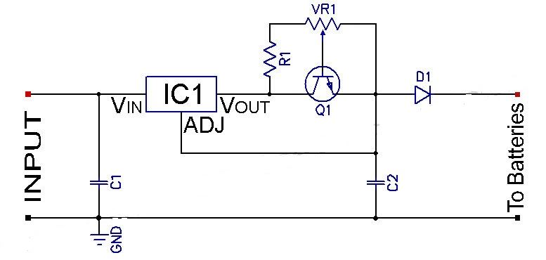 ni cd and ni mh adjustable constant current circuit diagram rh streampowers blogspot com Current Regulator Circuit LED Current Source Circuit