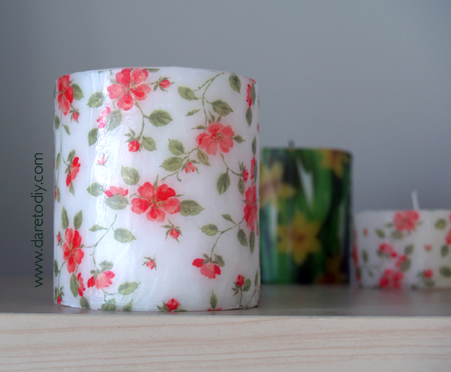Dare to DIY in EnglishDIY HomePrinted paper Candles