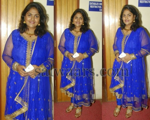 Nirosha Dark Blue Churidar
