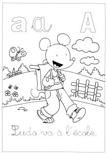 Coloriage Ludo Cp.Ecrire Avec Ludo Coloriage Pour Les Gs