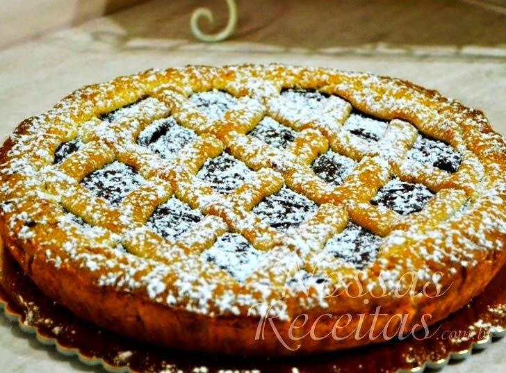 Receita de torta de maçã com cobertura de Nutella
