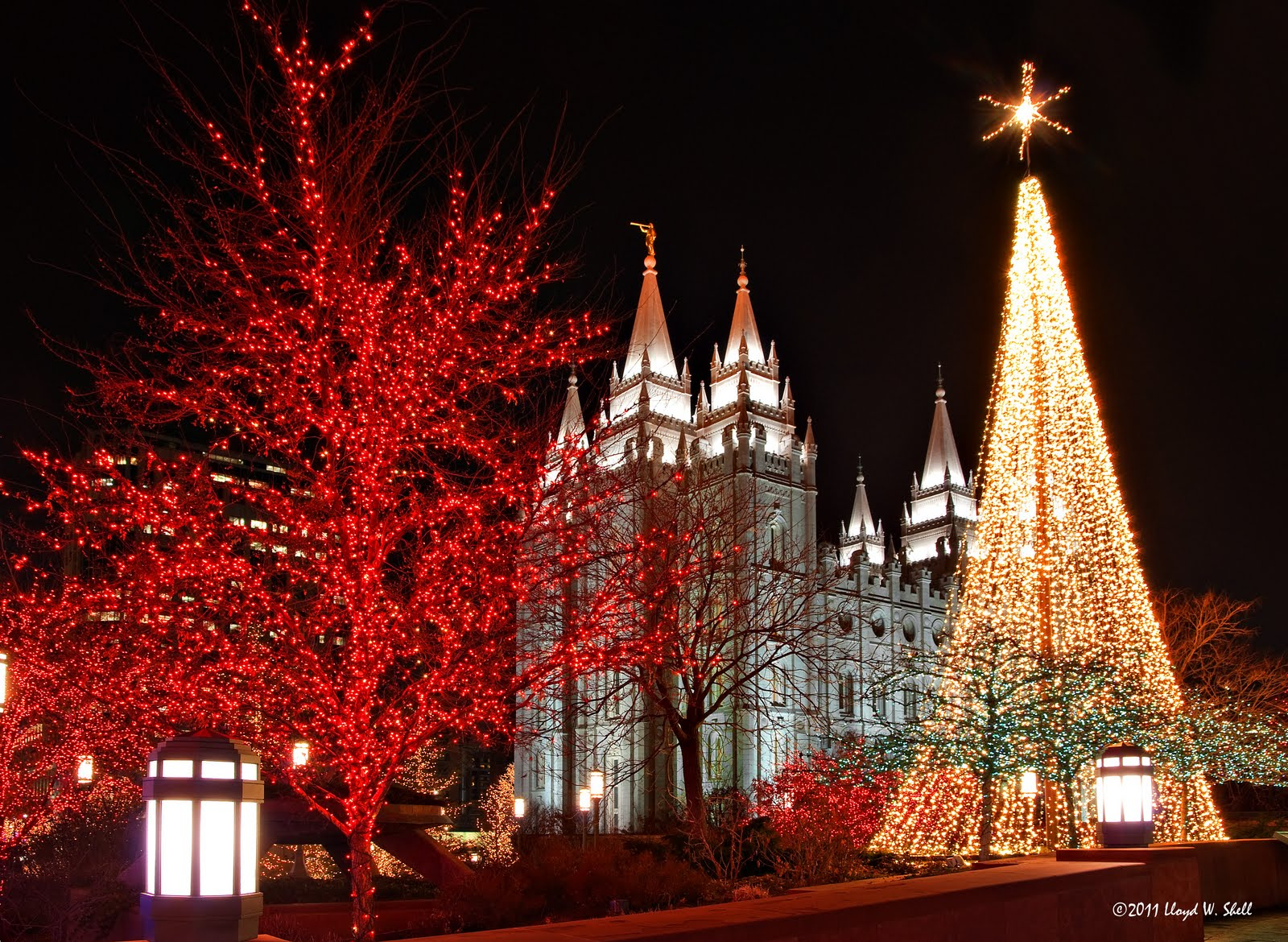 Some Dude With a Camera: Temple Square Christmas Lights 2011