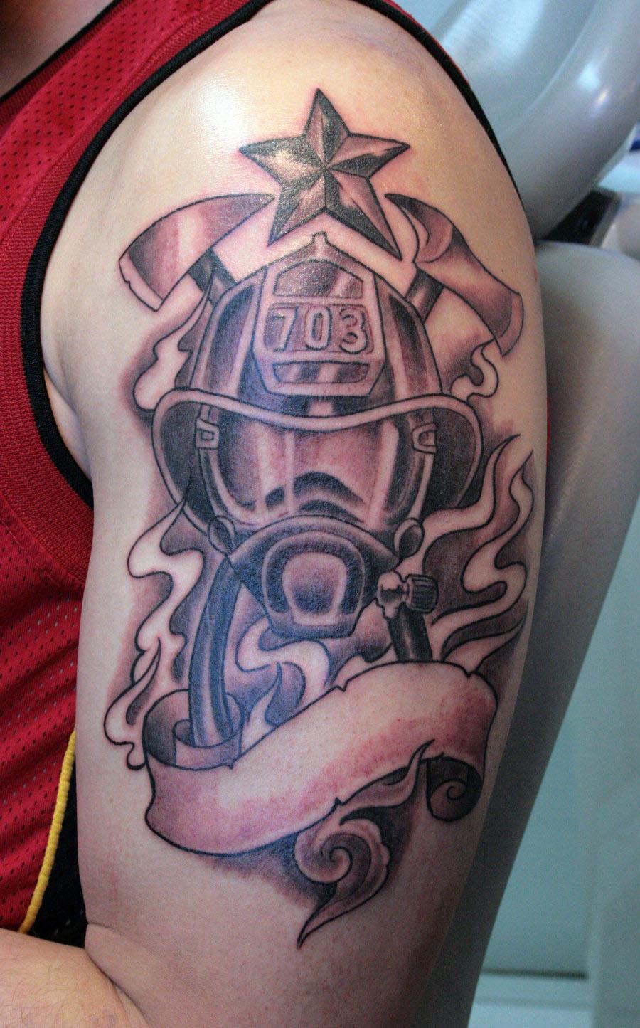 firefighter tattoos 3d tattoo new. Black Bedroom Furniture Sets. Home Design Ideas