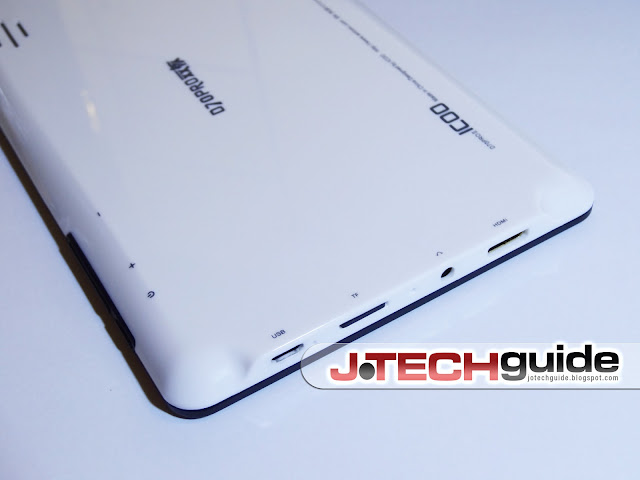 The luscious, white back of the ICOO D70Pro Android tablet