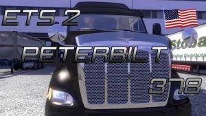 Peterbilt 378 for Euro Truck Simulator2 v1.4.8