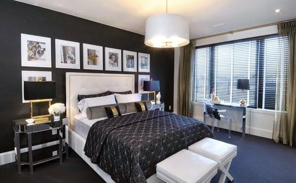 black bedroom decorating ideas for luxury bedroom