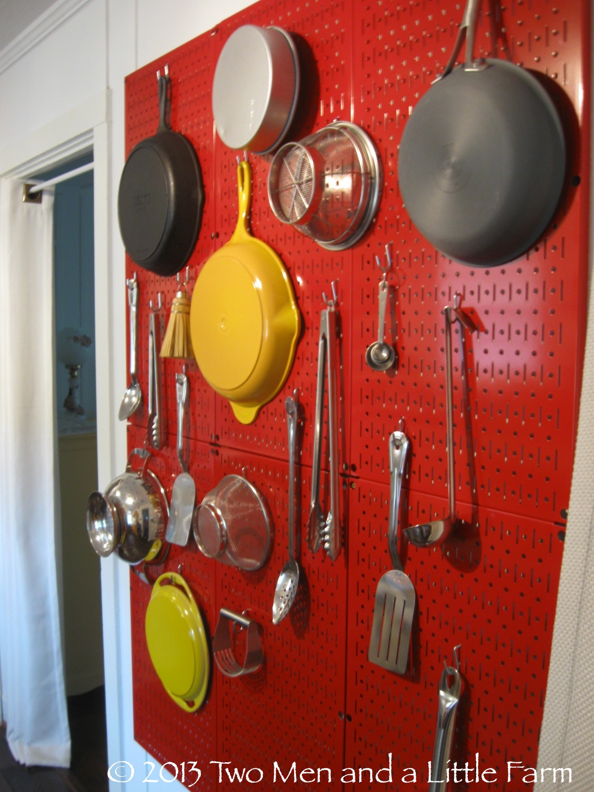 Kitchen Pegboard Two Men And A Little Farm Our Julia Child Pegboard Wall