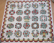 Baltimore Garden Quilt,... au piquage, almost done...