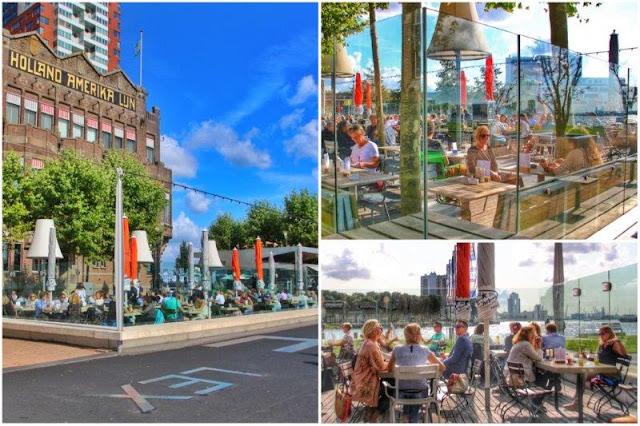 Terraza en Hotel New York en Rotterdam