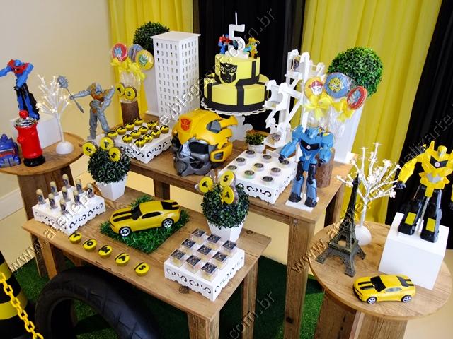 festa dos Transformers Clean Decoração festa dos Transformers