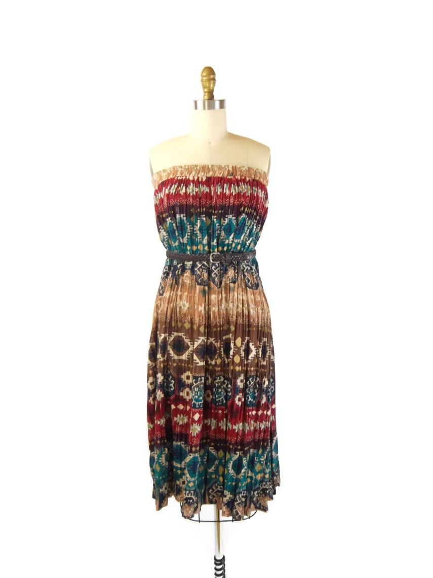 foxburrow vintage western boho skirt