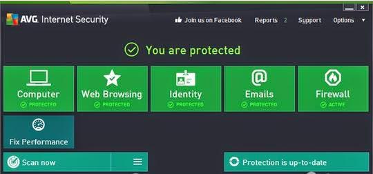 Key AVG Internet Security 14 Build 4577