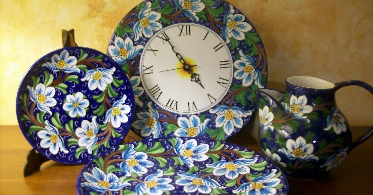 Ceramica che passione collezzioni ceramiche decorazione for Decorazione floreale