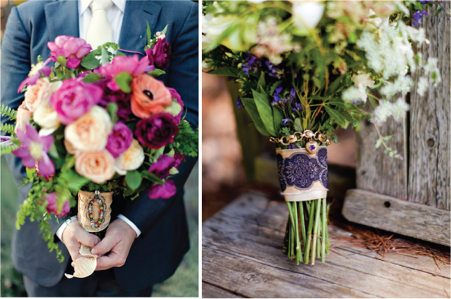 wedding bouquet wraps handles and holders inspiration