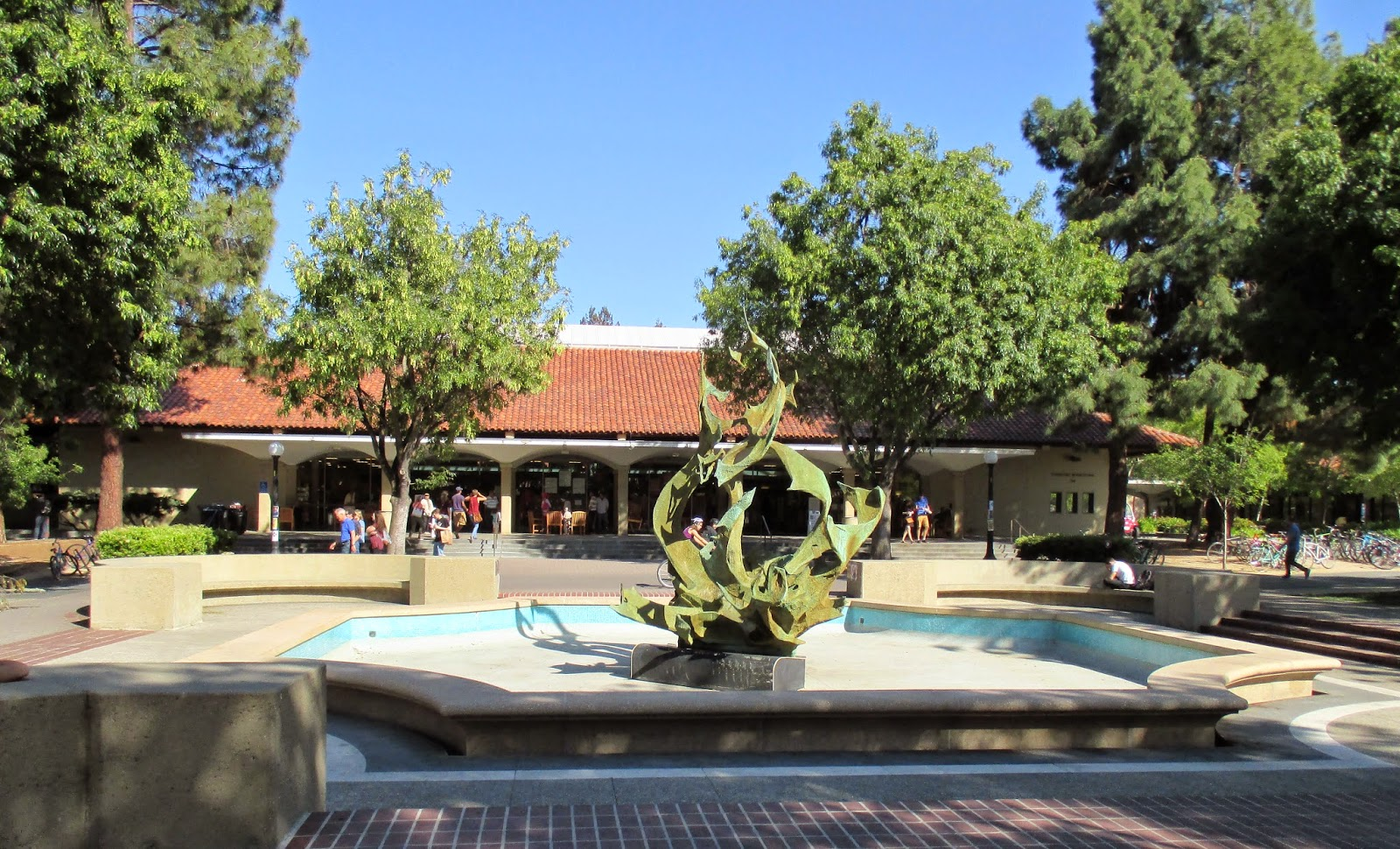 Stanford University Claw Fountain No Water
