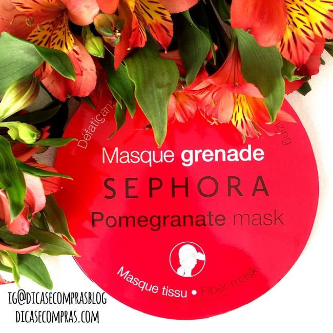 Resenha: Pomengranate mask da Sephora (máscara facial energizante)
