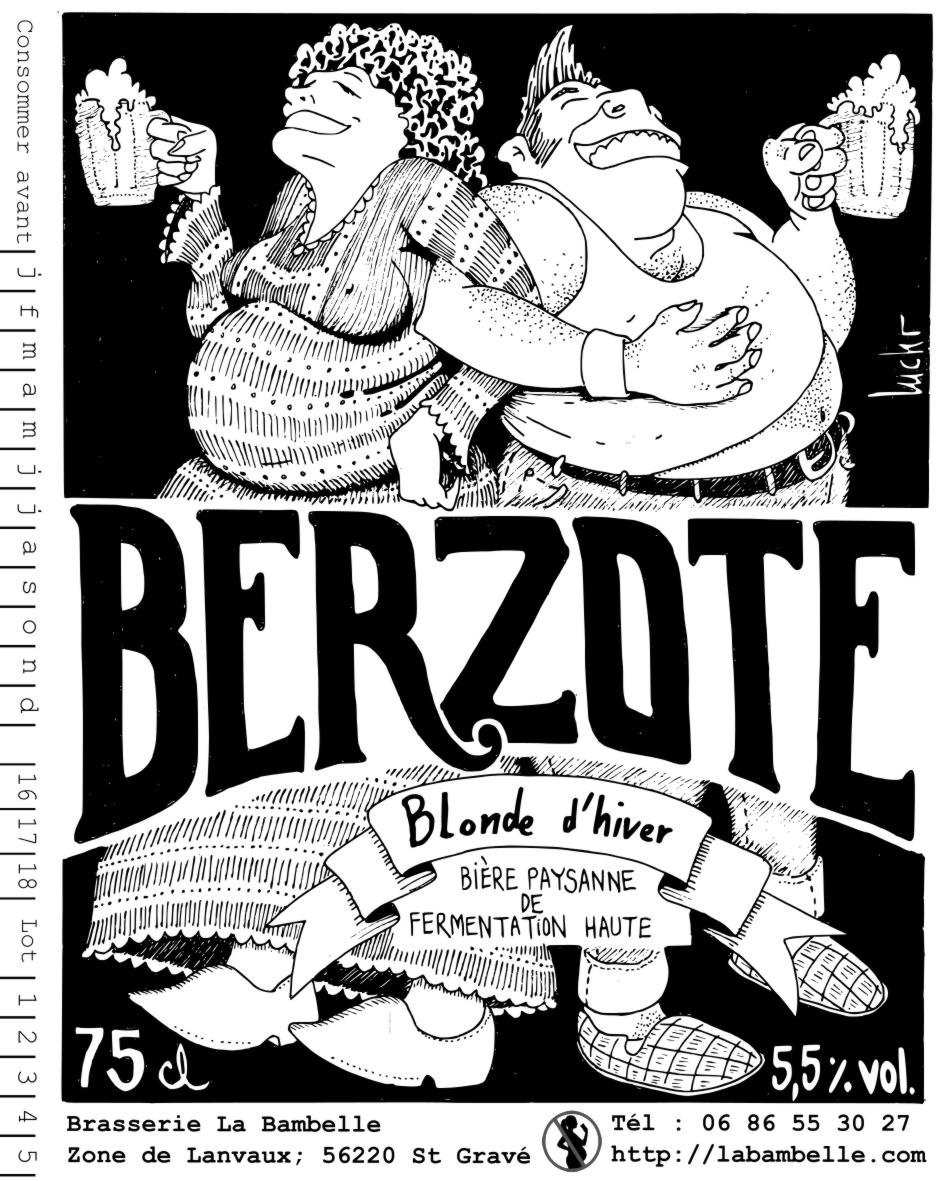 Bière La Berzote Blonde d'hiver  5.5% 75 cL
