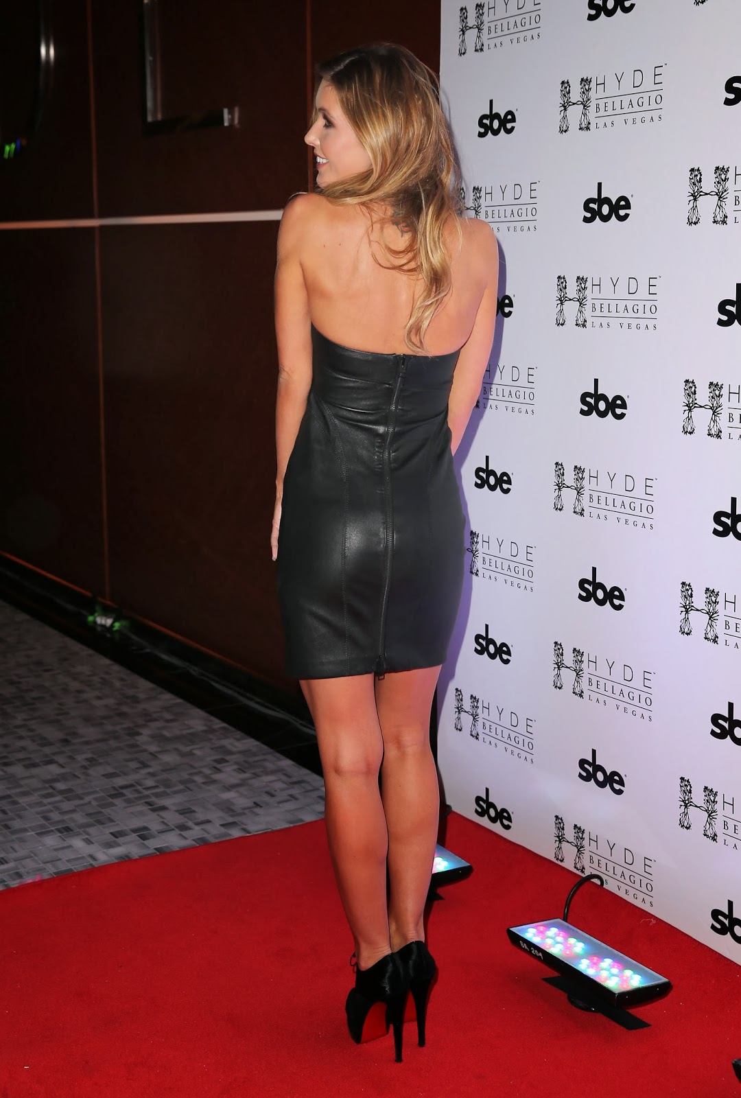 Lovely Ladies In Leather Audrina Patridge In A Leather