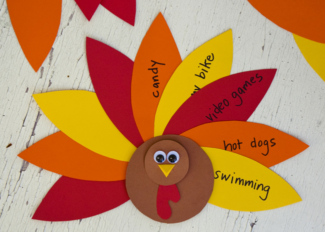Running with sisters grateful gobbler for Thanksgiving turkey arts and crafts