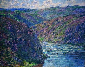 Claude Monet, Les ravins de la Creuse (1889)n chat