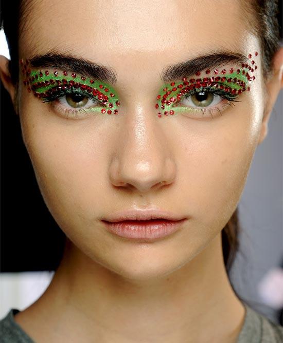 dior spring summer 2013 makeup, crystal makeup