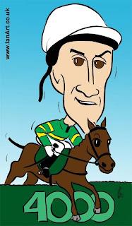 AP McCoy Jump Jockey caricature