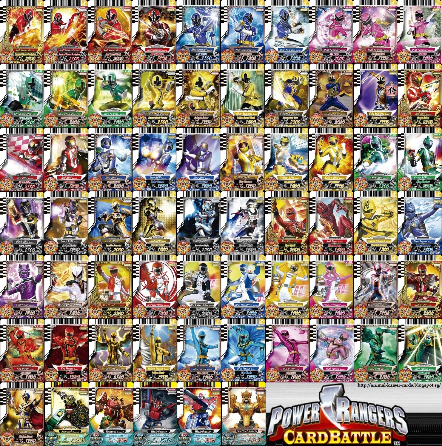 animal kaiser and other card power rangers card battle series 1