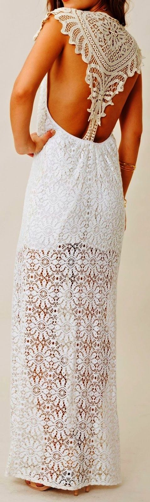 See more Gorgeous embroidered back detail lace maxi dress | LBV ♥✤ | KeepSmiling | BeStayElegant