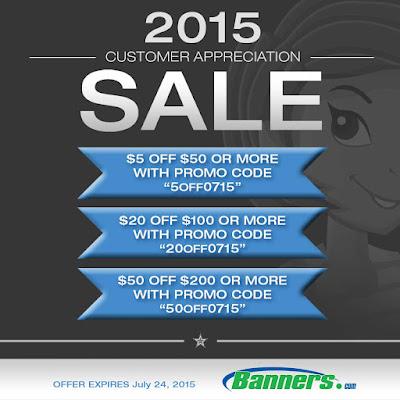 Banners.com Customer Appreciation Sales Event