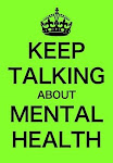Keep talking about mental health; it's time to talk