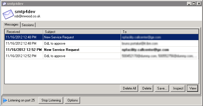 How to test workflows notifications and emails ibm maximo if you have problems running the smtp4dev application try to click on the options button if you get an error like this it means that you have not maxwellsz