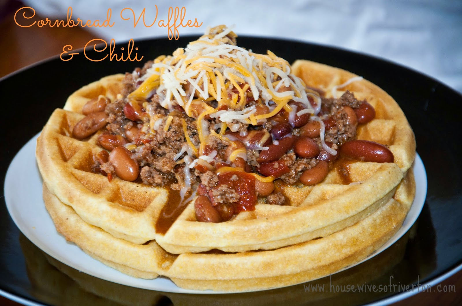 Cornbread Waffles and Chili