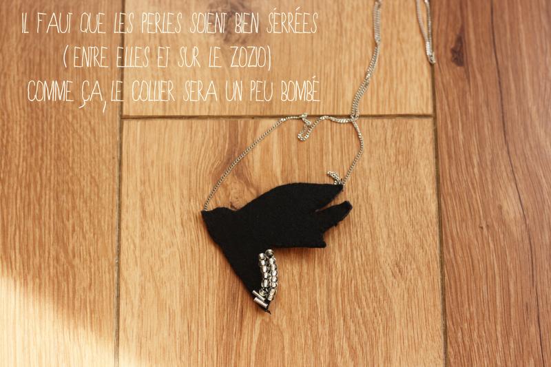 collier shourouk oiseau DIY