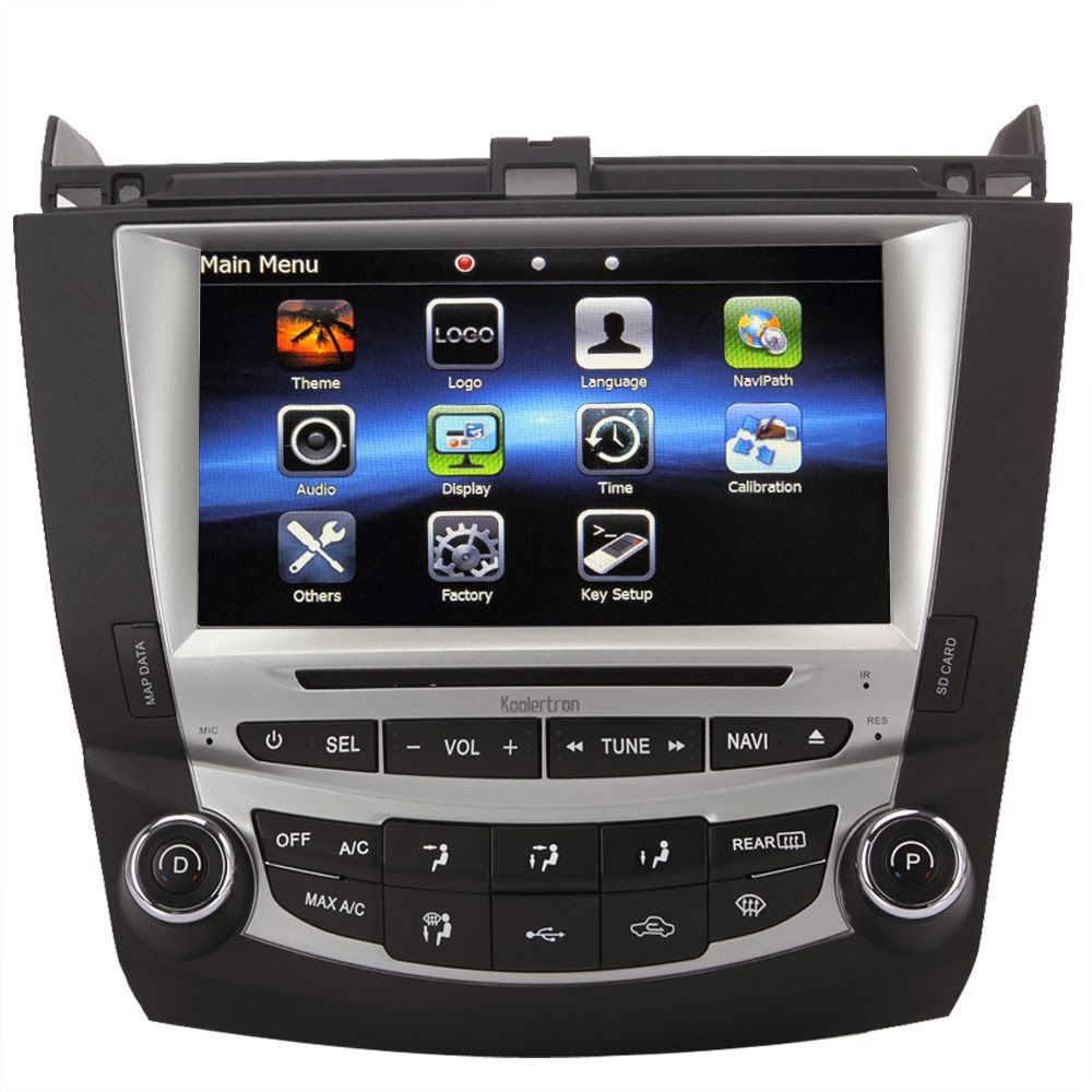Koolerbuy Koolertron Official Online Store Ql Acd877 8 Backup Camera Wiring Diagram Inch Digital Hd Touchscreen Dvd Gps Navigation System With Ipod Bt Control For 7th 2003 07 Honda Accord