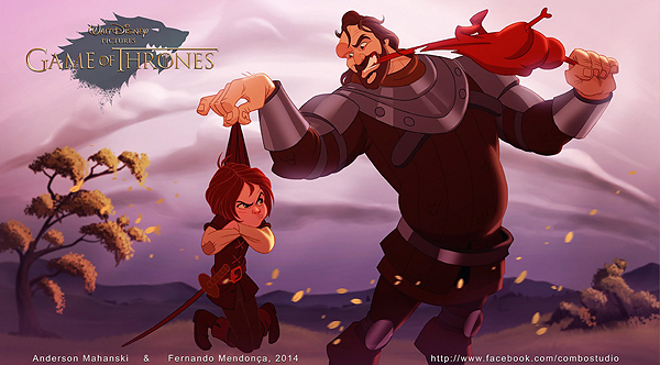 GoT/Disney Mash-Up of Arya Stark and Sandor Clegane (The Hound)