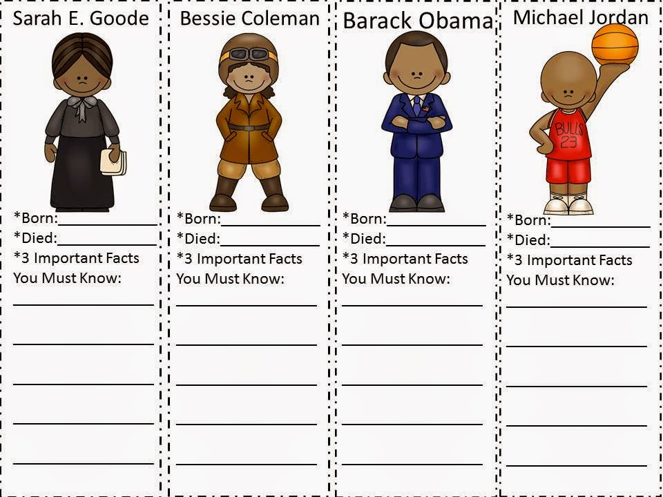 Black History Month Printable Worksheets
