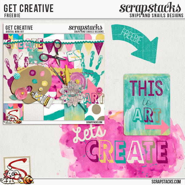 Get Creative Freebie by Snips and Snails Designs