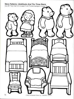 Goldilocks Three Bears Story Printable