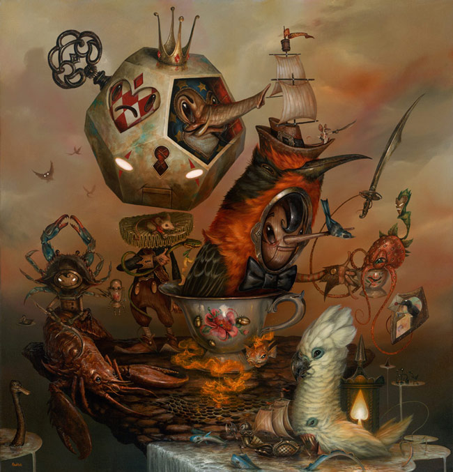 20-My-Speciality-is-Special-Tea-Greg-Craola-Simkins-Fantastical-Surreal-Paintings-Full-of-Details