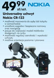 Uniwersalny uchwyt Nokia CR-123 Biedronka ulotka