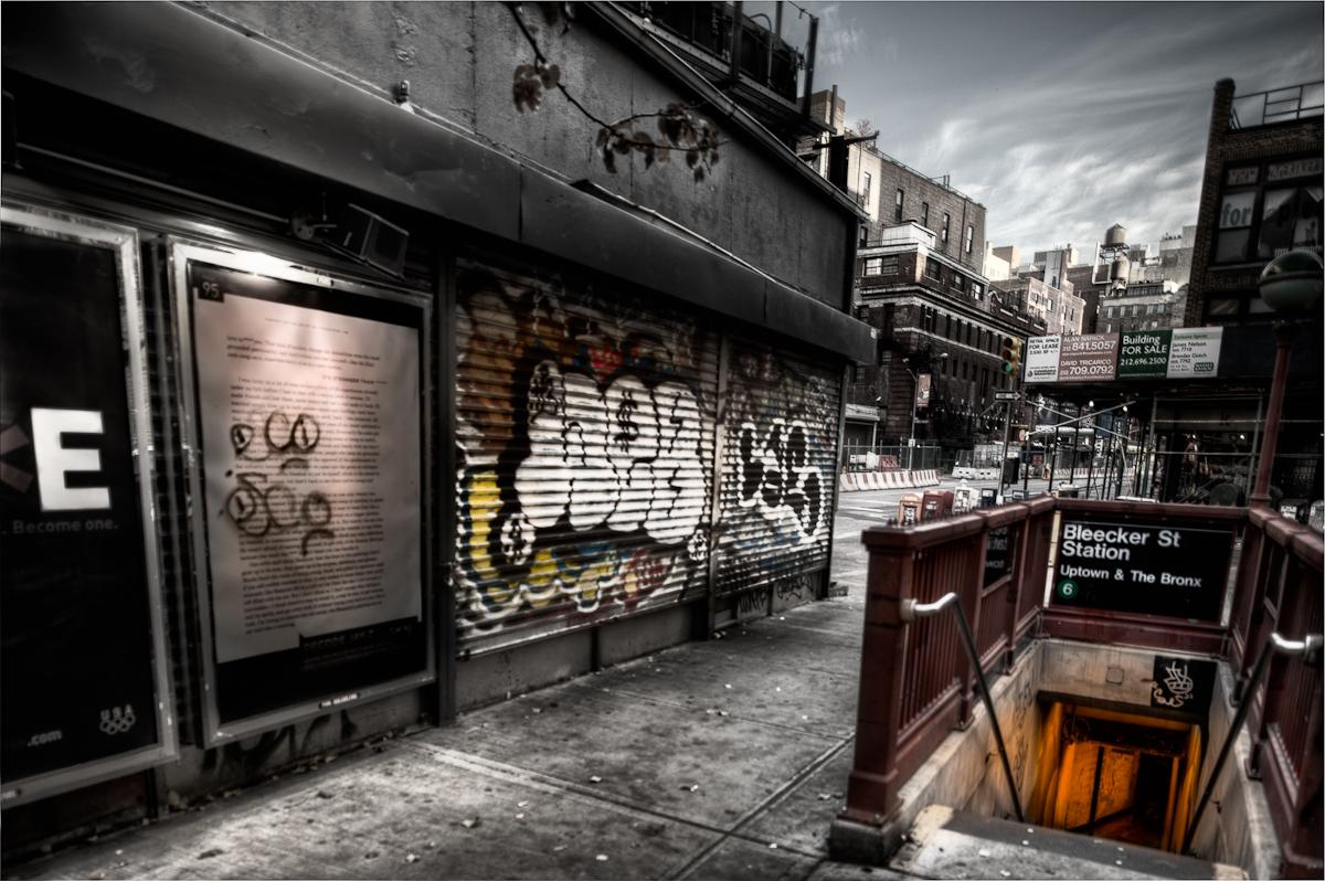 A Bleecker Street In New York City