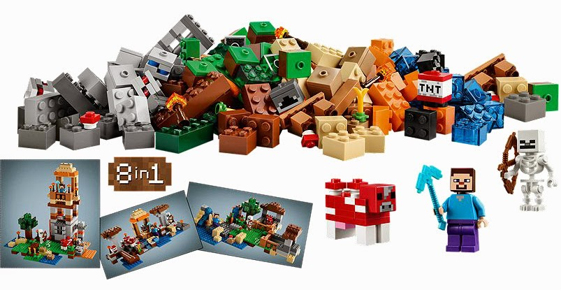 The New LEGO Minecraft sets overview The Crafting Box 21116