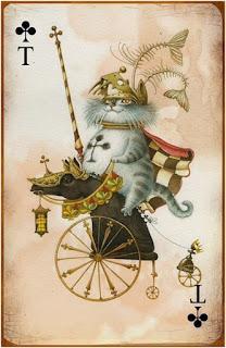 Эрмитажные коты в колоде карт.