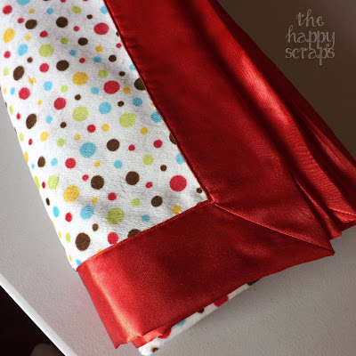 how to make a minky blanket with satin binding