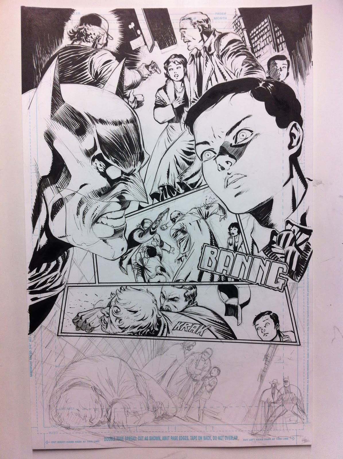 "Making of a page: DETECTIVE COMICS 27: ""Sacrifice"" page 2 by Guillem March"