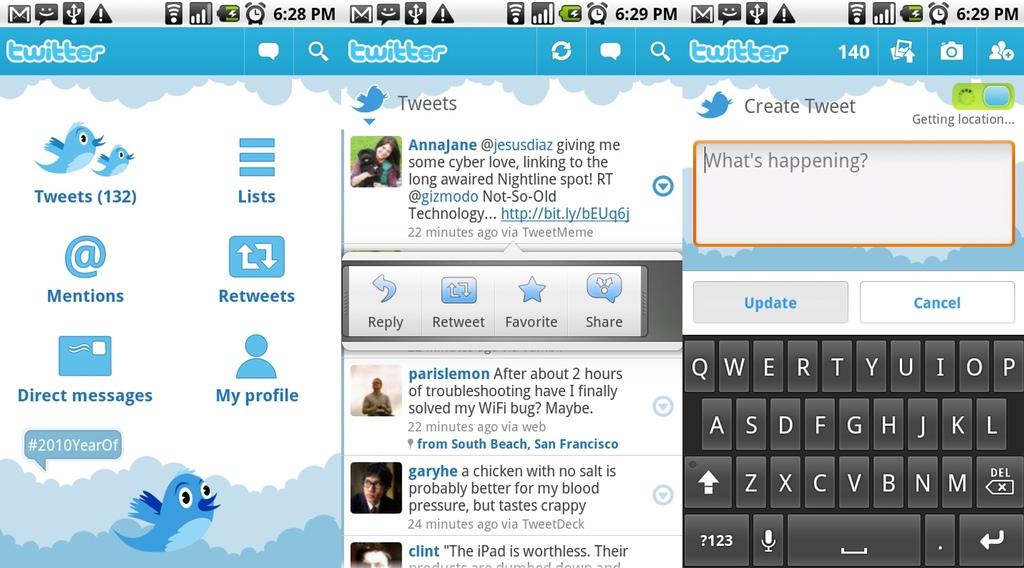 twitter video home launcher