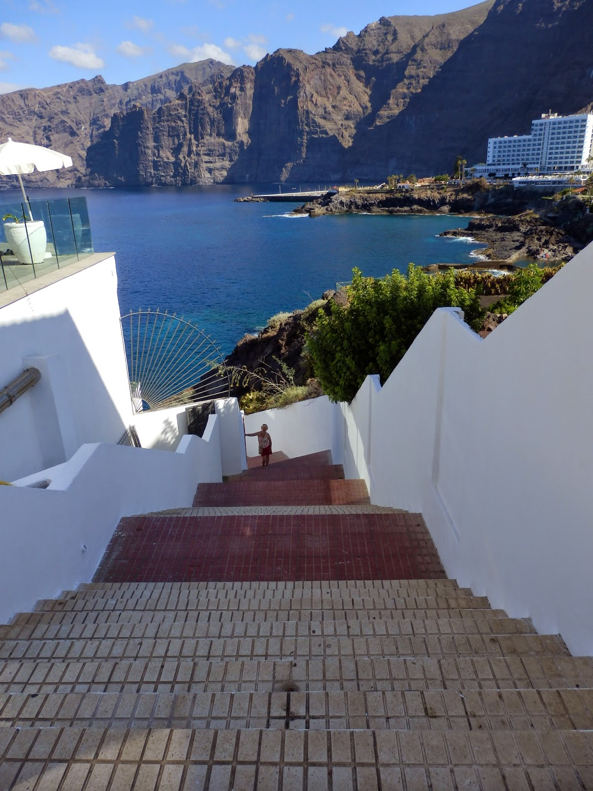 Steps at Los Gigantes