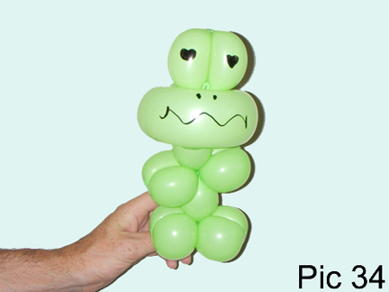 Balloon Animals Twisting Instructions How To Make Balloon Frog