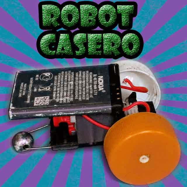 robot con batería de celular  robotica