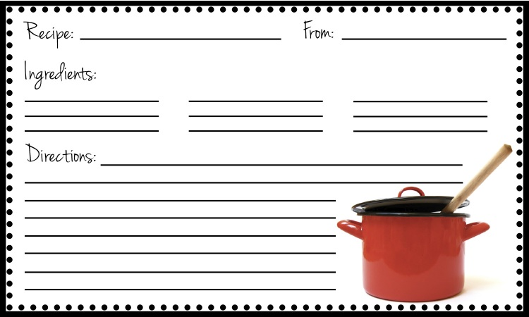 Word Recipe Card Template Doc  Word Template Recipe Card